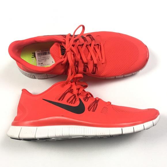 af3135921d21 Nike Free 5.0 Red Mens Sz L14 R15